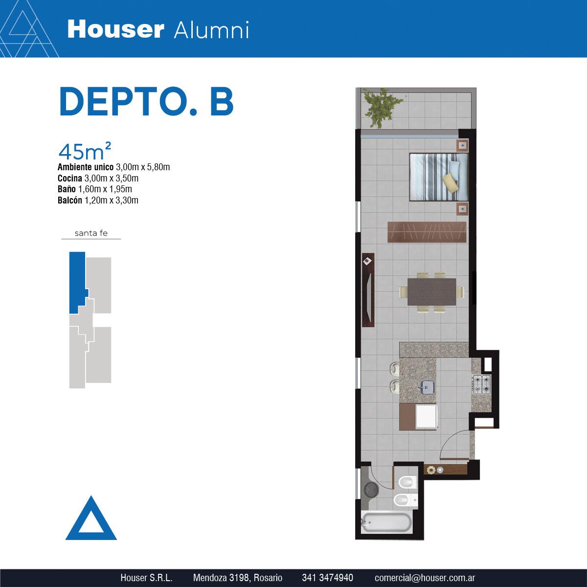 Plantas Houser Alumni - Departamento B