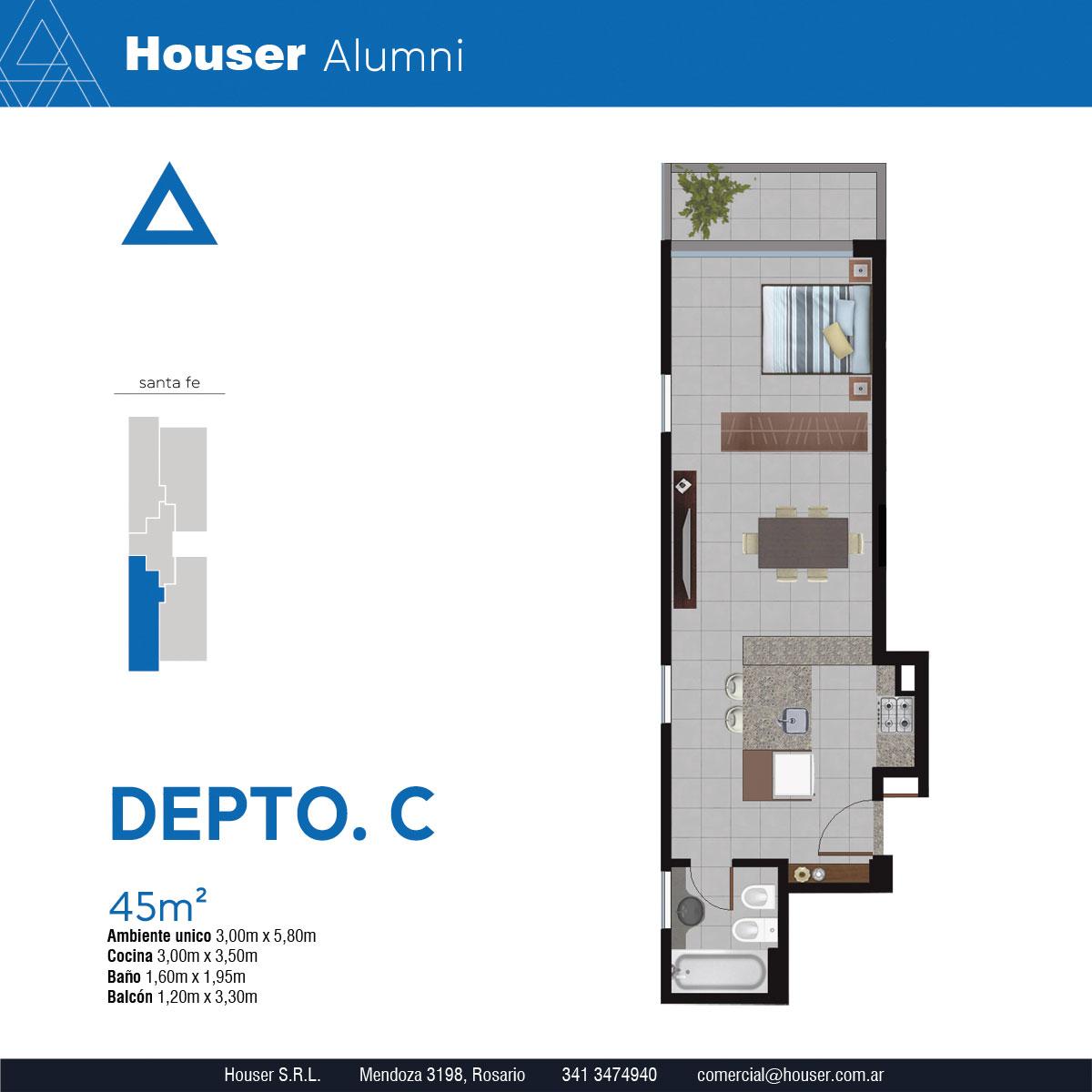 Plantas Houser Alumni - Departamento C