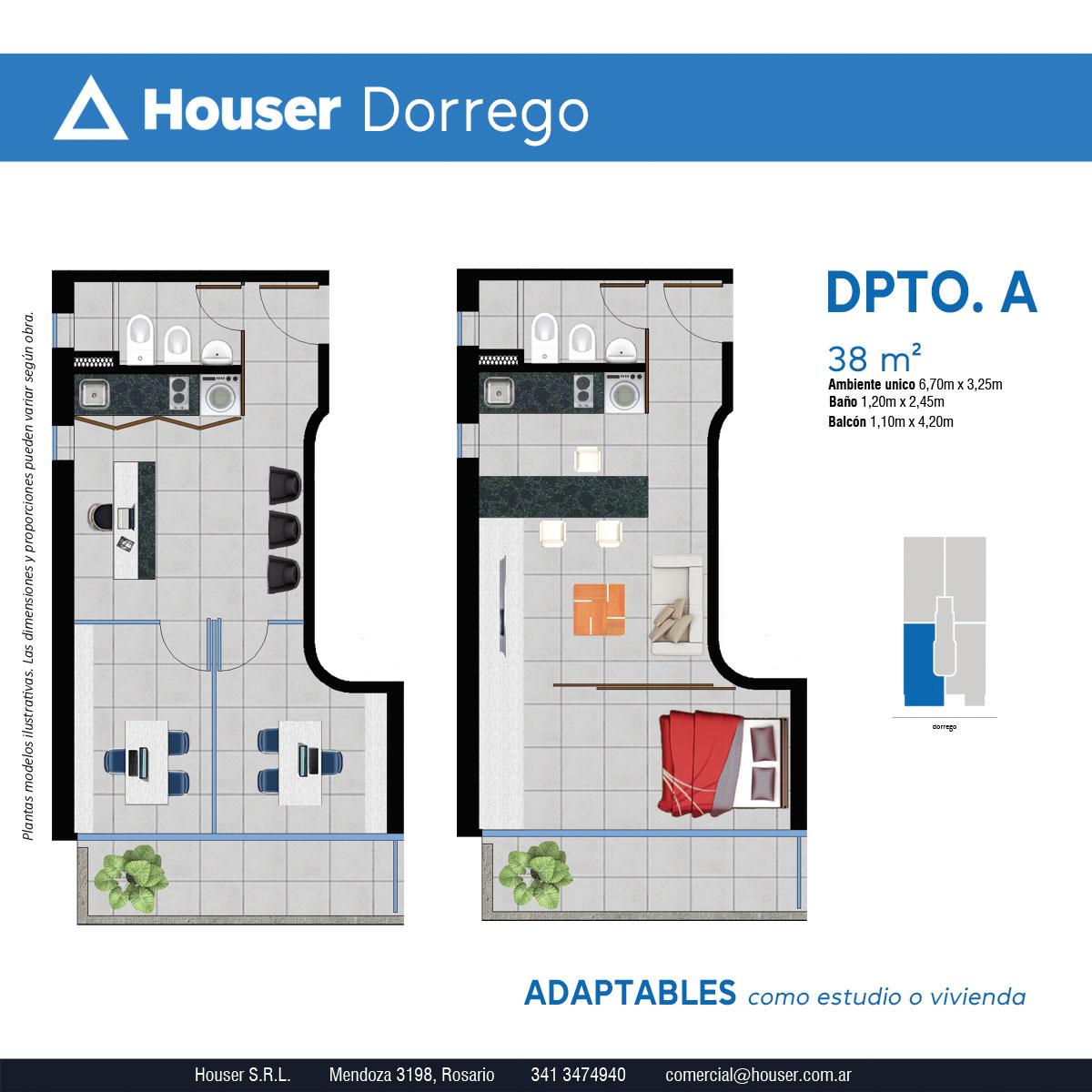 Plantas Houser Dorrego - Departamento A