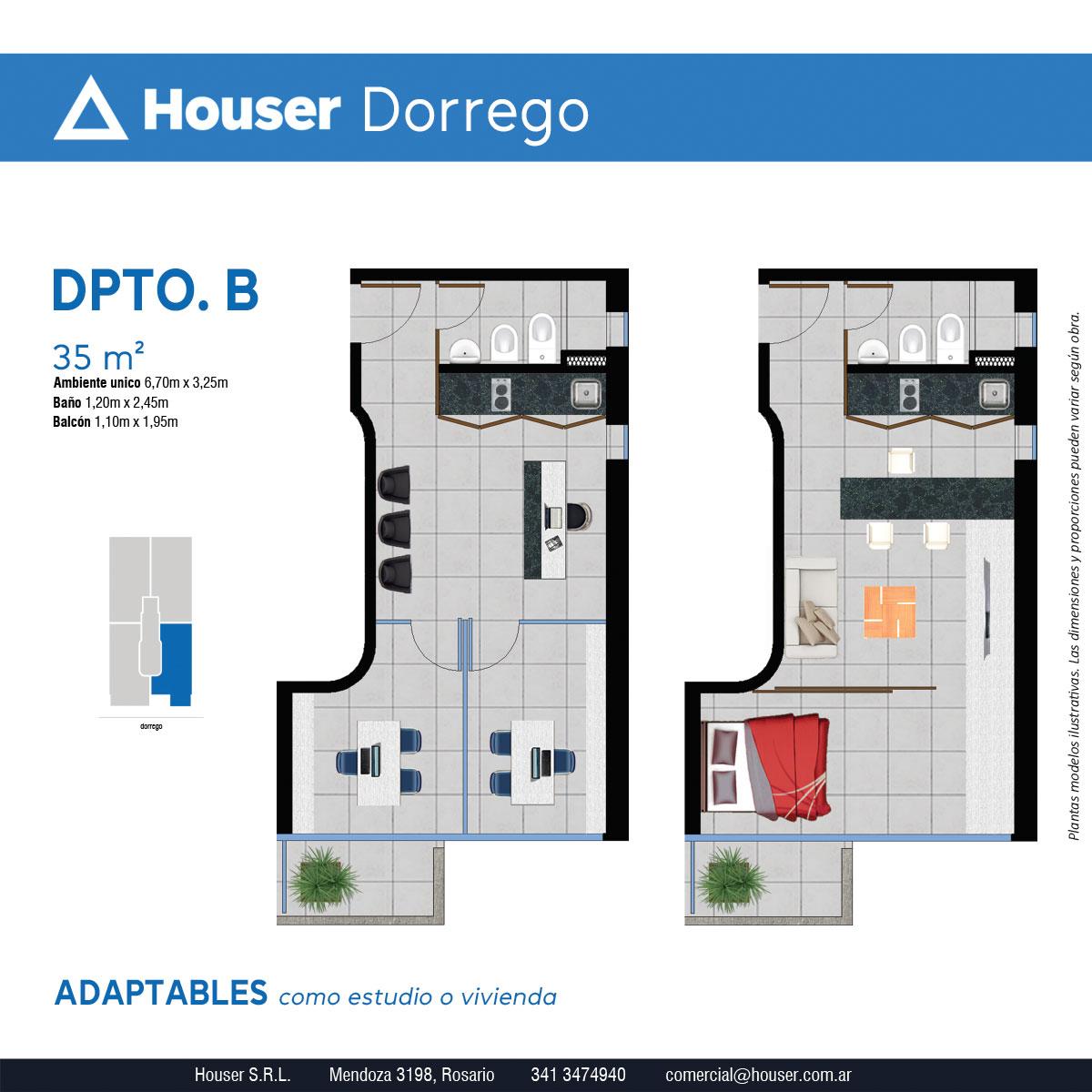 Plantas Houser Dorrego - Departamento B